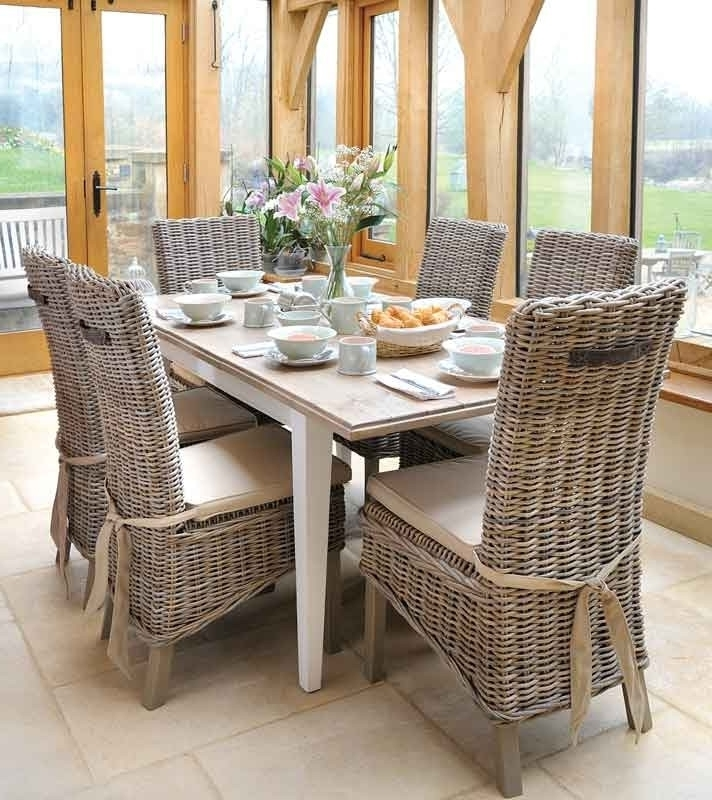 Rattan Dining Tables And Chairs With Most Popular Wicker Dining Room Chairs — New Home Design (View 16 of 20)