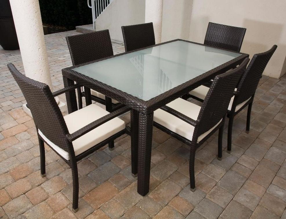 "Rattan Dining Tables Regarding Famous Source Outdoor Zen Wicker 84"" X 40"" Dining Table – Wicker (View 14 of 20)"