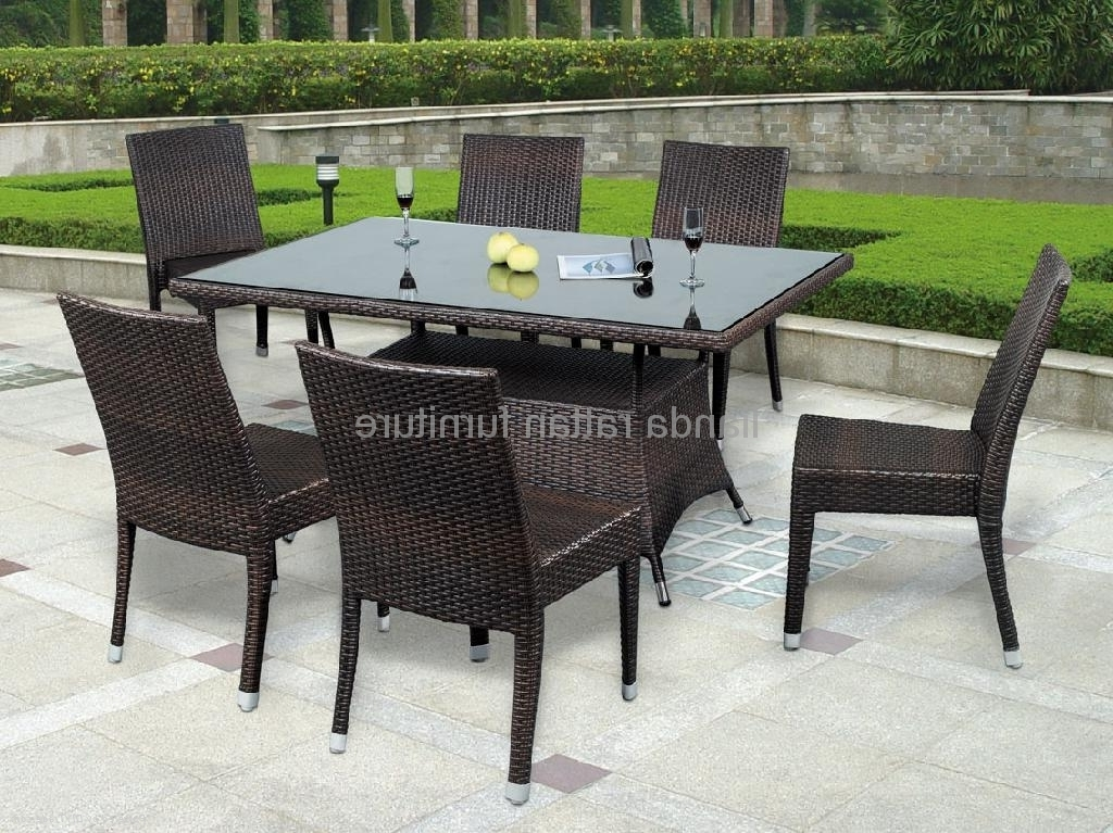 Rattan Dining Tables Within Best And Newest Stackable Rattan Dining Table Chair Dining Furniture Ld1131 – Ld (View 14 of 20)