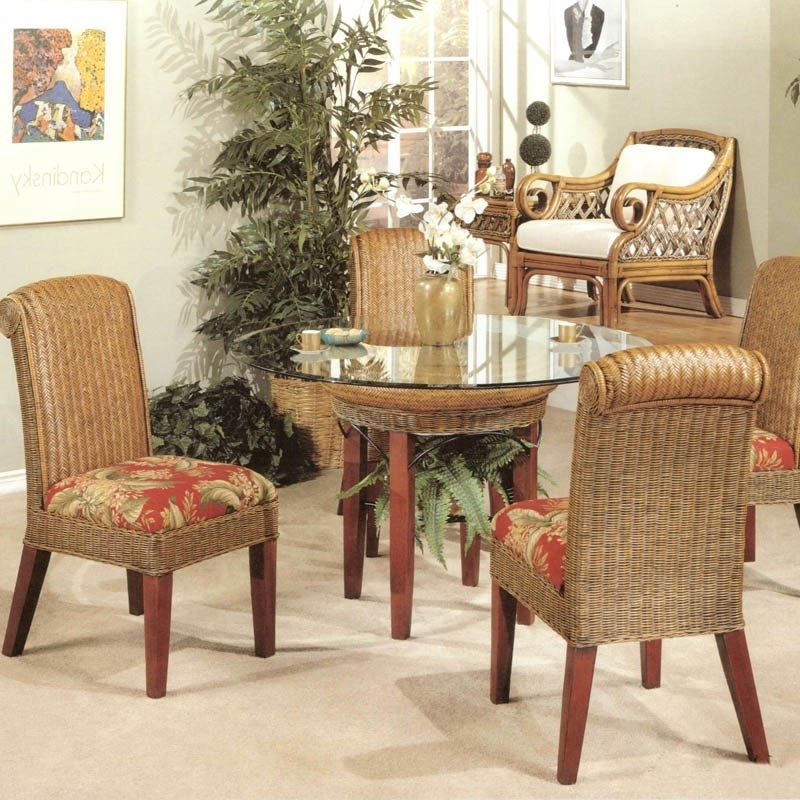 Rattan Wicker Dining Set Inside Well Known Rattan Dining Tables And Chairs (View 13 of 20)
