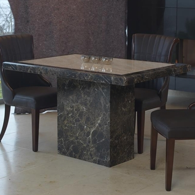 Ravena Large Marble Dining Table – Robson Furniture With Regard To Most Popular Small 4 Seater Dining Tables (View 11 of 20)