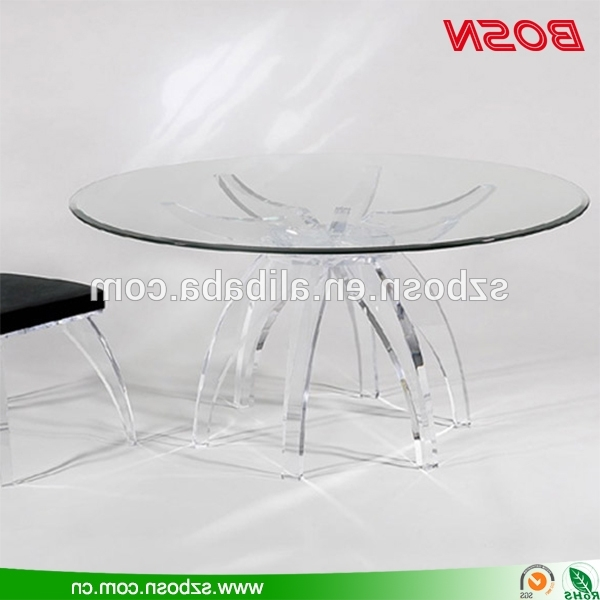 Recent Acrylic Round Dining Tables Within Round Clear Acrylic Dining Table Perspex Dining Table – Buy Perspex (View 17 of 20)