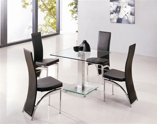 Recent Alba Square Clear Glass Dining Table (View 10 of 20)