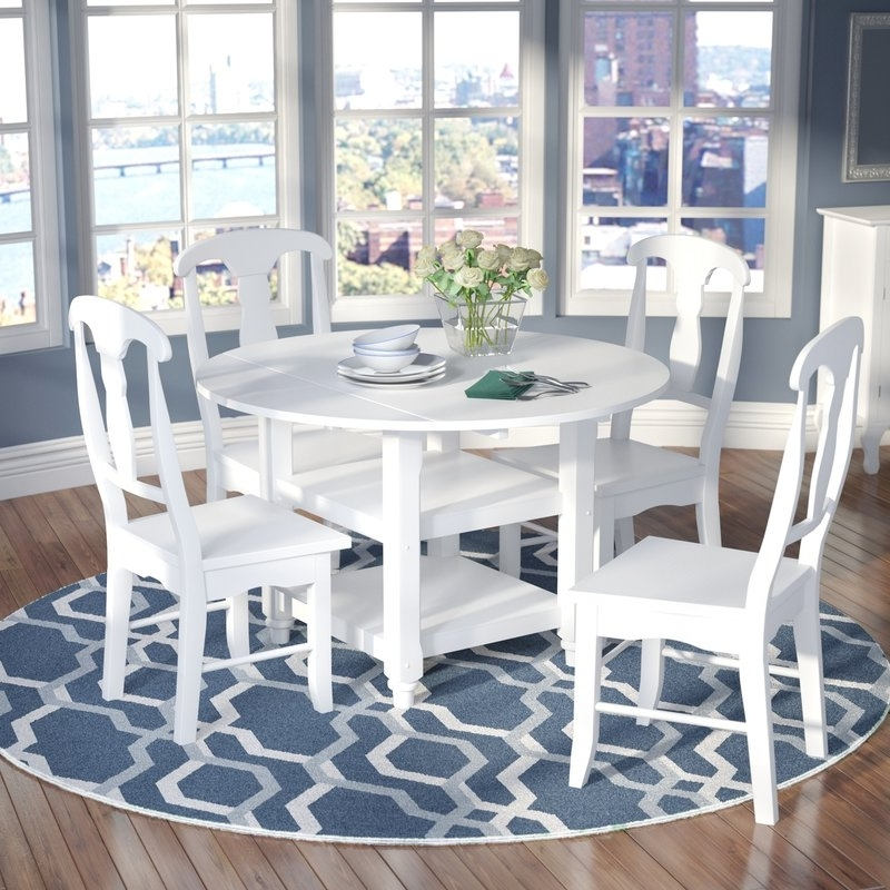 Recent Alcott Hill Harwick 5 Piece Dining Set & Reviews (Gallery 19 of 20)