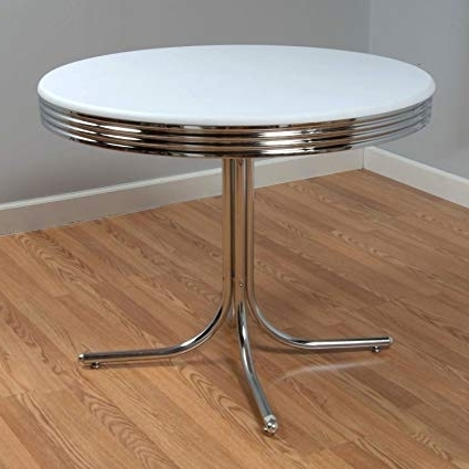 Recent Amazon: Bistro Retro Dining Table: Kitchen & Dining In Retro Dining Tables (View 10 of 20)