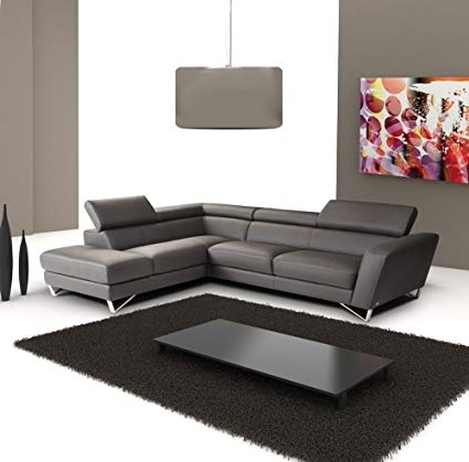 Recent Amazon: J&m Furniture Sparta Full Grey Italian Leather Sectional In Nico Grey Sectionals With Left Facing Storage Chaise (View 3 of 15)