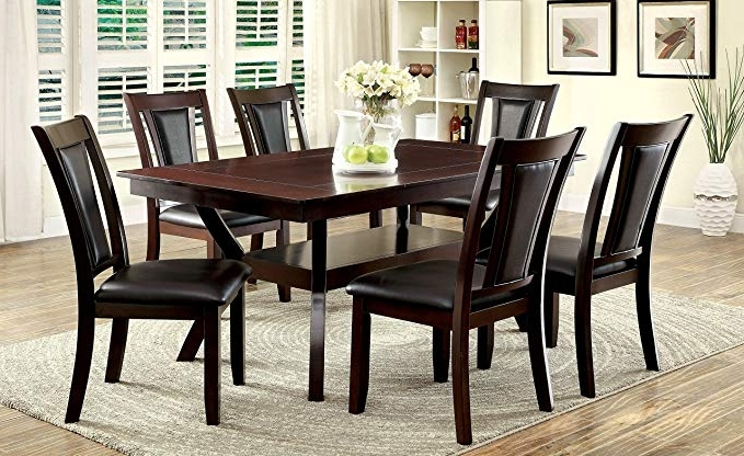 Recent Amos 6 Piece Extension Dining Sets In Amazon – Furniture Of America Dalcroze 7 Piece Modern Dining Set (View 12 of 20)