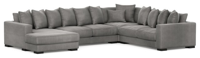 Recent Avery 2 Piece Sectionals With Laf Armless Chaise Within Leonardo Sectional – Contemporary – Sectional Sofas – Houston – (View 11 of 15)