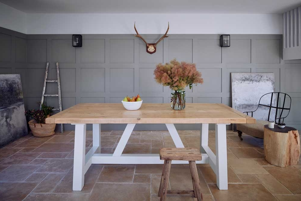 Recent Barn House Dining Tables Pertaining To Rustic North American Timber Mill Dining Table (View 14 of 20)