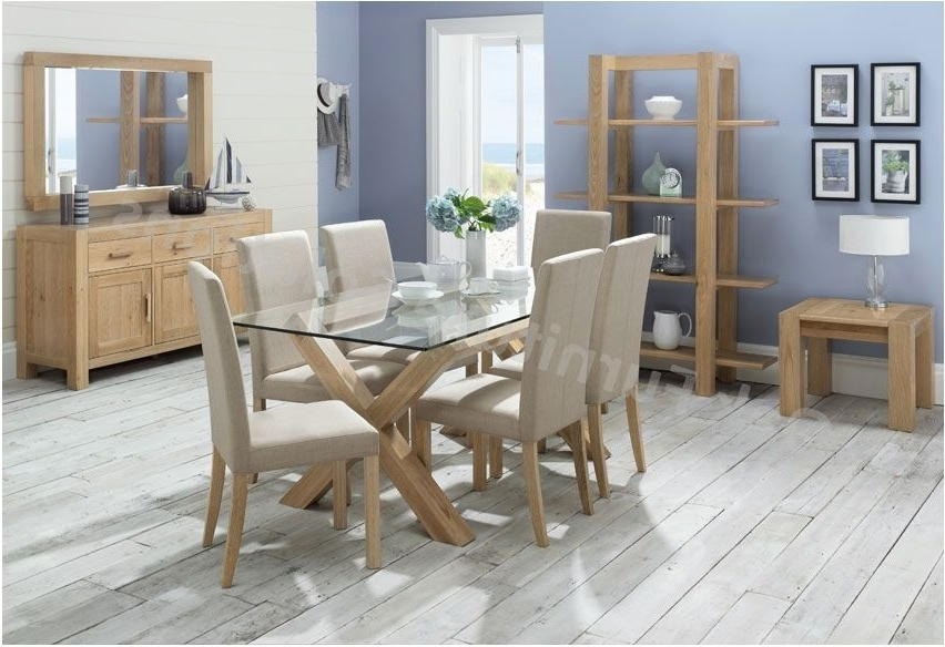 Recent Best Glass Dining Room Furniture Endearing Decor Oak Dining Room Throughout Oak And Glass Dining Tables And Chairs (View 2 of 20)