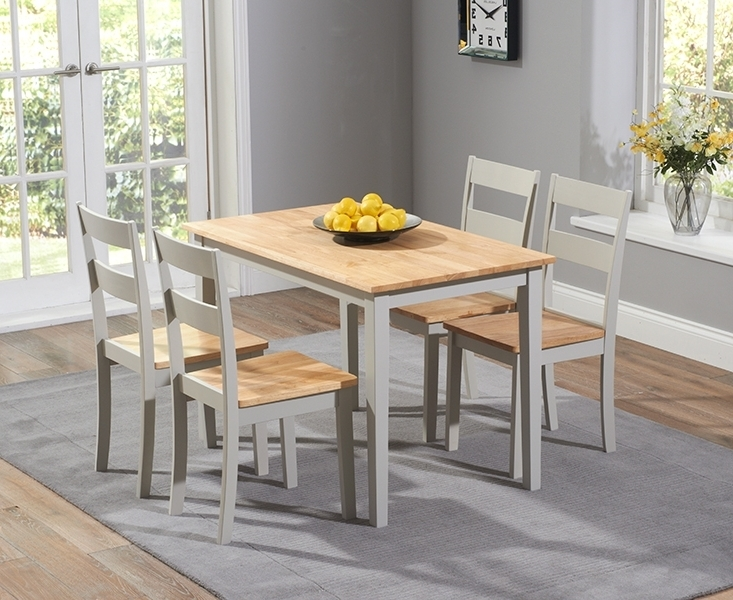 Recent Chichester Dining Tables Intended For Buy Mark Harris Chichester Oak And Grey Dining Set – 115Cm (View 18 of 20)