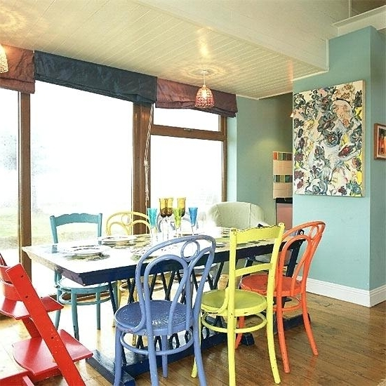 Recent Colorful Dining Room Sets – Matras Within Colourful Dining Tables And Chairs (View 15 of 20)