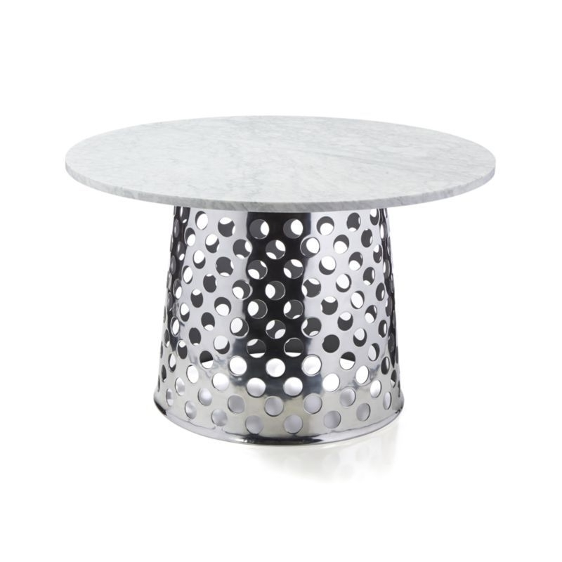 """Recent Como Dining Tables With Regard To Como 48"""" Round Marble Top Dining Table (View 15 of 20)"""