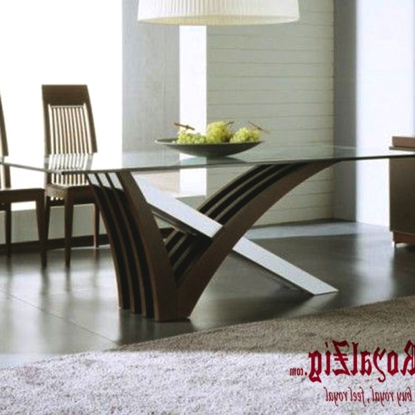 Recent Contemporary Dining Furniture Regarding Modern Dining Table I Contemporary Wooden 4 Seater Dining Table I (View 18 of 20)