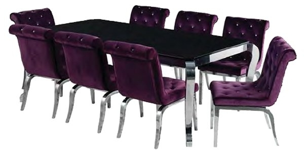 Recent Contemporary Dining Furniture Throughout Dining Tables And Purple Chairs (View 18 of 20)