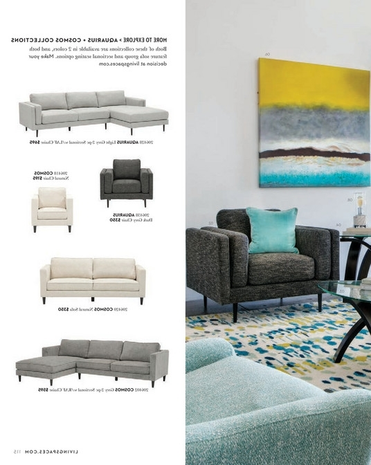 Recent Cosmos Grey 2 Piece Sectionals With Raf Chaise Intended For Living Spaces – Spring 2018 – Cosmos Grey 2 Piece Sectional W/raf Chaise (View 13 of 15)
