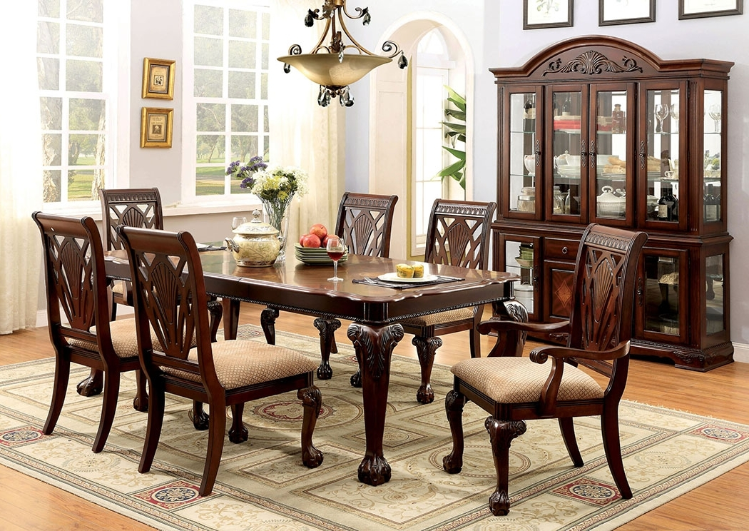 Recent Craftsman 5 Piece Round Dining Sets With Side Chairs Throughout Affordable Mattress And Furniture Petersburg L Cherry Rectangle (View 15 of 20)