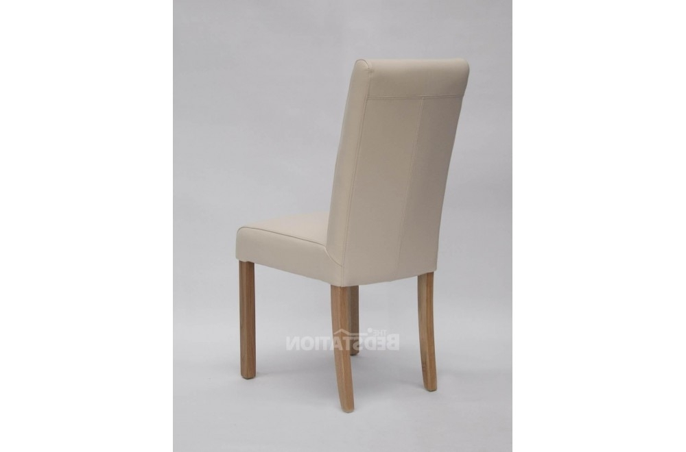 Recent Cream Leather Dining Chairs Intended For Homestyle Marianna Cream Leather Dining Chair From The Bed Station (View 15 of 20)