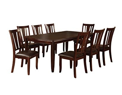 Recent Dining Tables Sets For Amazon – Furniture Of America Frederick 9 Piece Dining Table Set (View 17 of 20)