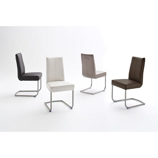 Recent Flair Pu Leather Dining Chair With Chrome Legs 19967 Intended For Chrome Leather Dining Chairs (View 13 of 20)