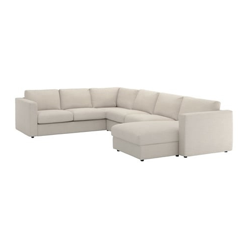 Recent Haven Blue Steel 3 Piece Sectionals Intended For Vimle Sectional, 5 Seat Corner – With Chaise/gunnared Beige – Ikea (View 9 of 15)