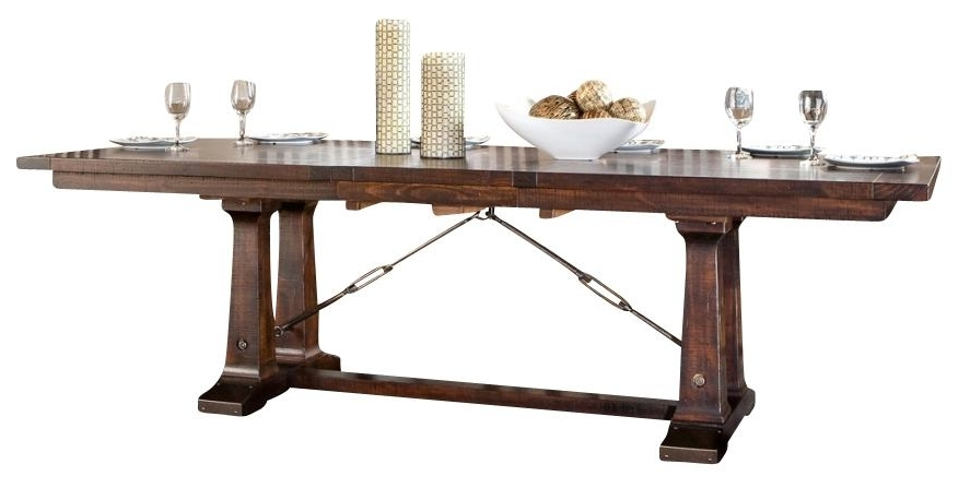 Recent Intercon Furniture Hayden Trestle Dining Table In Rough Sawn In Hayden Dining Tables (Gallery 7 of 20)