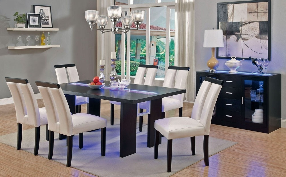 Recent Kenneth Led Light Dining Table Set Within Dining Tables With Led Lights (View 2 of 20)