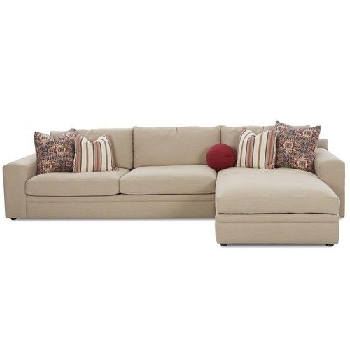 Recent Klaussner Casa Mesa Casual 2 Piece Sectional Sofa With Chaise And Within Mesa Foam 2 Piece Sectionals (View 11 of 15)
