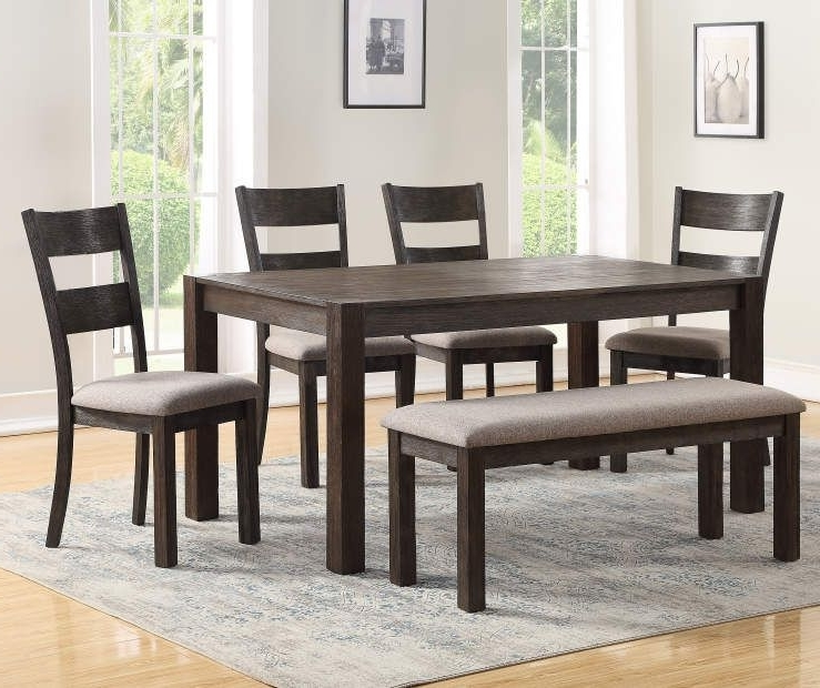 Recent Lassen 5 Piece Round Dining Sets Throughout I Found A Stratford Hayden 6 Piece Dining Set With Bench At Big Lots (View 4 of 20)