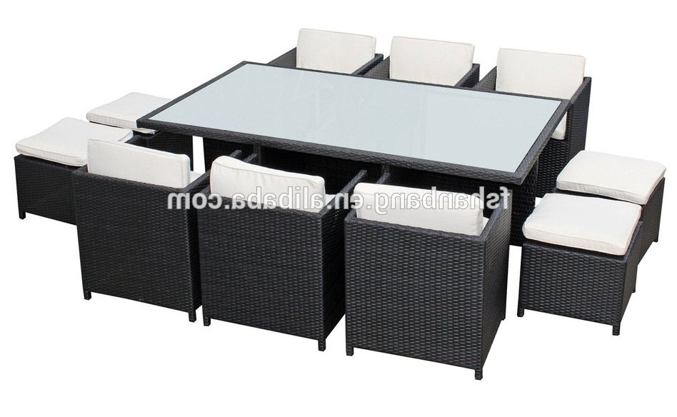 Recent Outdoor Wicker Patio Rattan Cube Garden 11 Piece Dining Table And Intended For Cube Dining Tables (View 16 of 20)