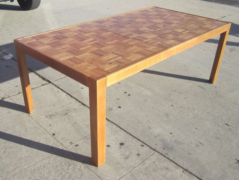 Recent Parquet Dining Tables With Parquet Top Parsons Table At 1stdibs (View 14 of 20)