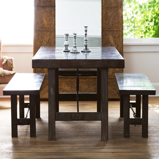 Recent Pottery Barn Benchwright Dining Table And Benchwright Benches Look 4 Within Dining Tables And 2 Benches (View 18 of 20)