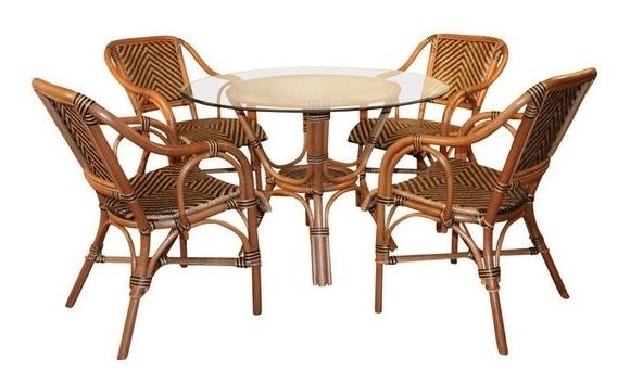 Recent Rattan Dining Tables Regarding Rattan Dining Furniture: Safari Style (View 11 of 20)