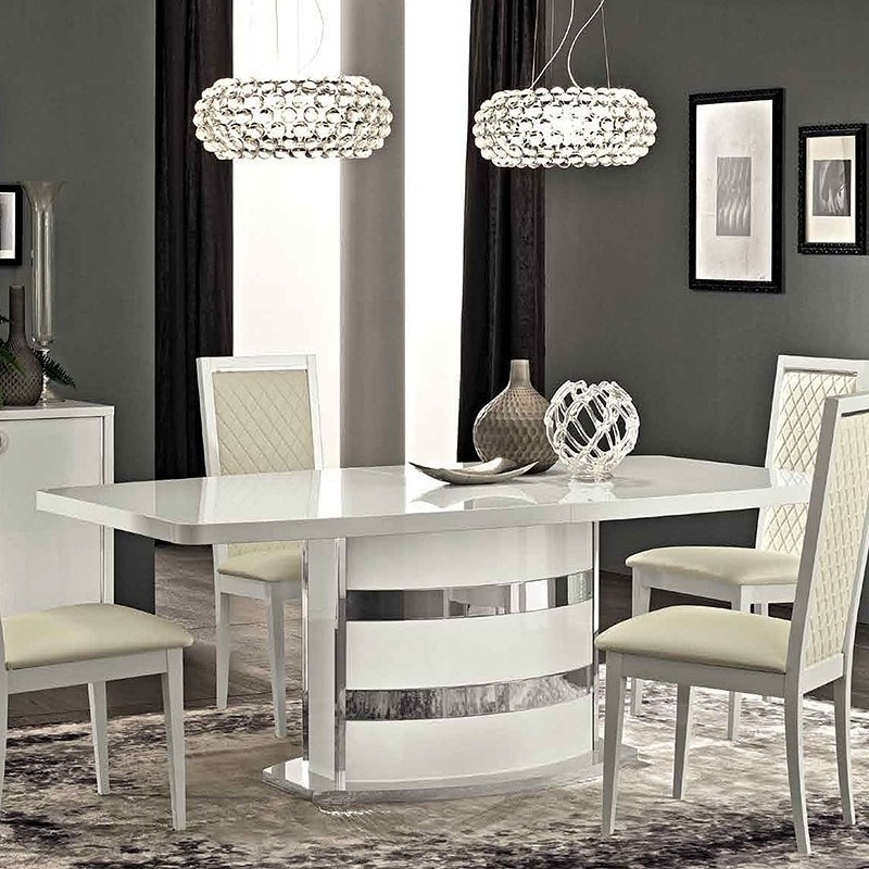 Recent Roma Dining Tables Pertaining To Roma Dining Table (White) Esf Furniture (Gallery 16 of 20)