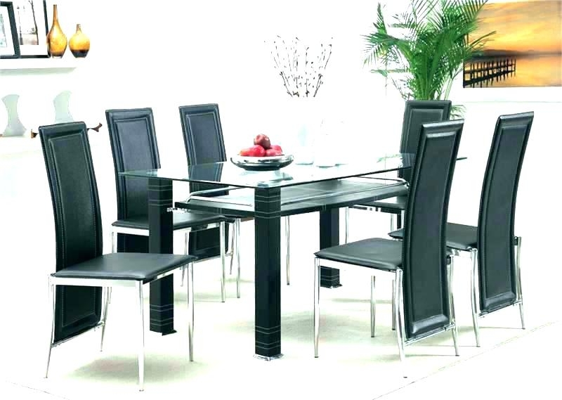 Recent Round Dining Table Set For 6 In Cheap Glass Dining Tables And 6 Chairs (View 10 of 20)