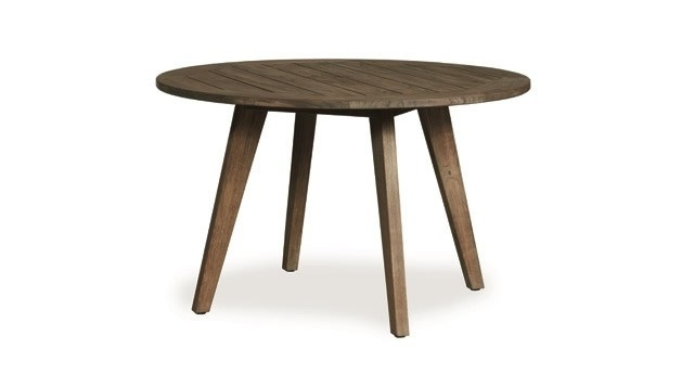 "Recent Round Teak Dining Tables Within Lloyd Flanders Wildwood 48"" Round Teak Dining Table – Wicker Dining (View 11 of 20)"