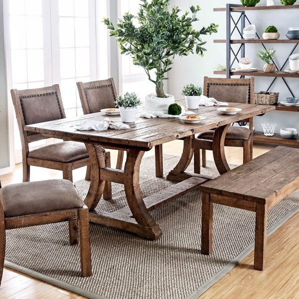 Recent Rustic Dining Tables Pertaining To Shop Furniture Of America Matthias Industrial Rustic Pine Dining (Gallery 1 of 20)