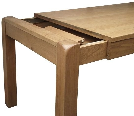 Recent Small Oak Dining Tables Regarding Saltash Oak 140cm 180cm Small Extending Dining Table (View 7 of 20)
