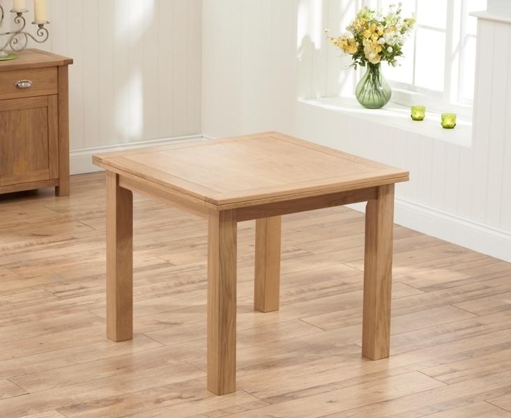 Recent Square Oak Dining Tables Intended For Buy Mark Harris Sandringham Solid Oak Dining Set – 90Cm Square Flip (View 15 of 20)