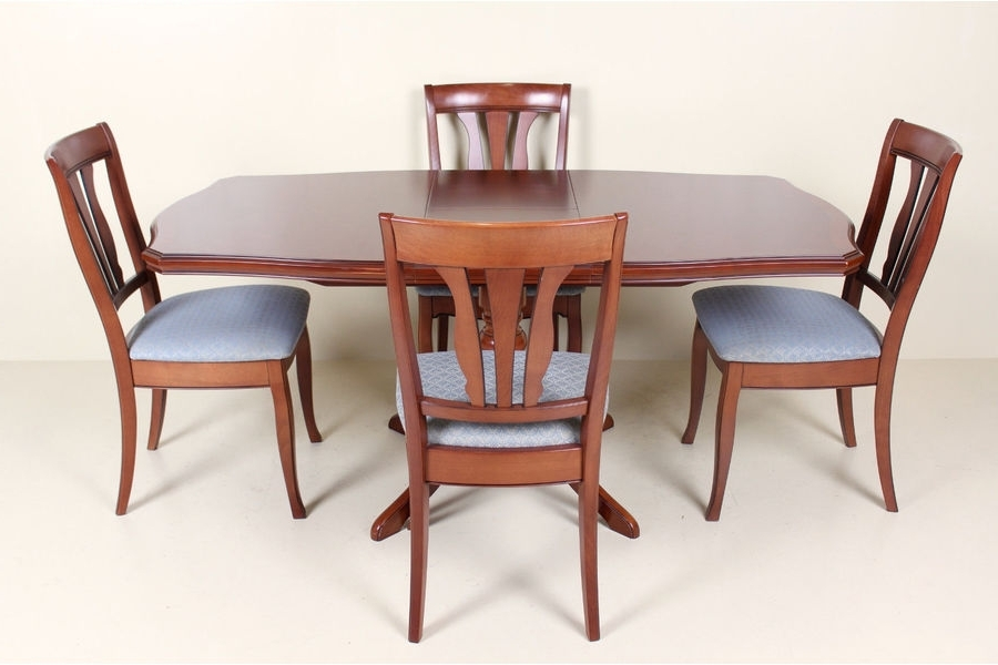 Recent Stag Mahogany Dining Table And Chairs Set 4 Chairs (Gallery 11 of 20)