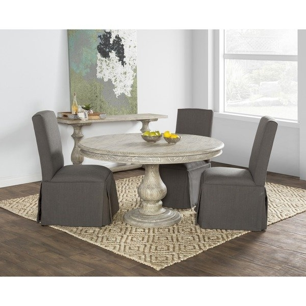 Recent Valencia 5 Piece 60 Inch Round Dining Sets Within Shop Wakefield Reclaimed Wood Grey Round Dining Tablekosas Home (Gallery 9 of 20)