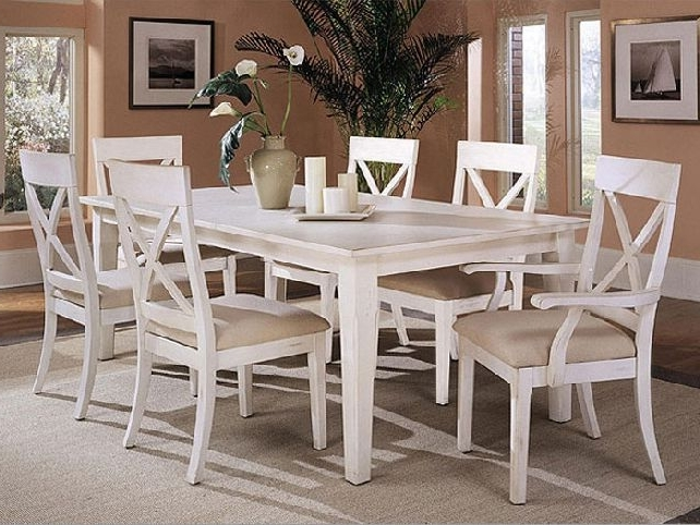 Recent White Dining Tables Sets Throughout Dining Room: Awesome White Dining Room Table Modern White Dining (View 13 of 20)