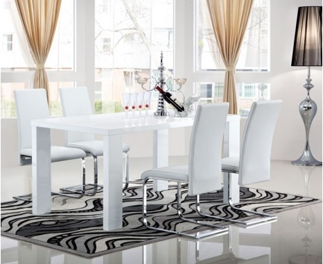 Recent White Gloss Dining Furniture Throughout Opus Extending Dining Table – Keens Furniture (View 12 of 20)