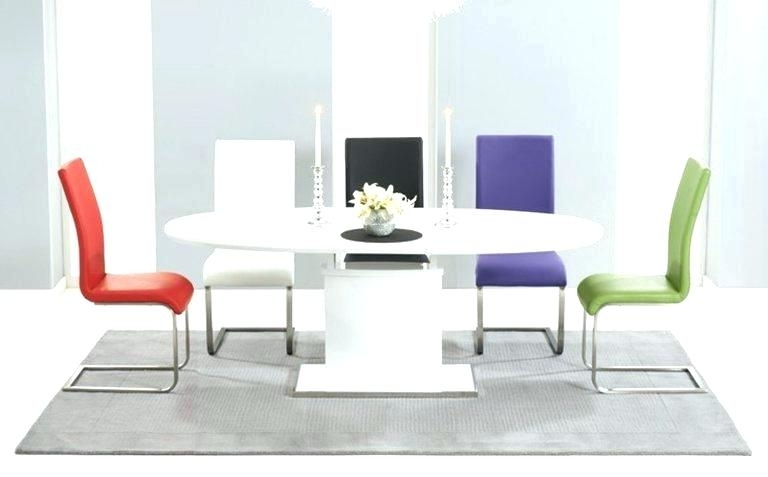 Recent White Gloss Dining Set Modern White Gloss Dining Table Glass Legs Regarding Black Gloss Dining Furniture (View 17 of 20)