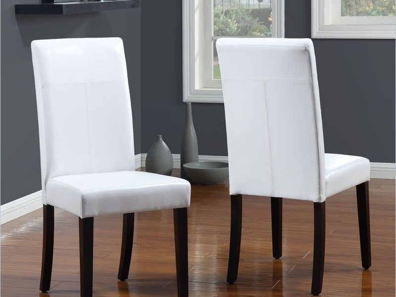 Recent White Leather Dining Chairs Throughout White Leather Dining Chairs To Spice Up Your Dining Room – Home (View 15 of 20)