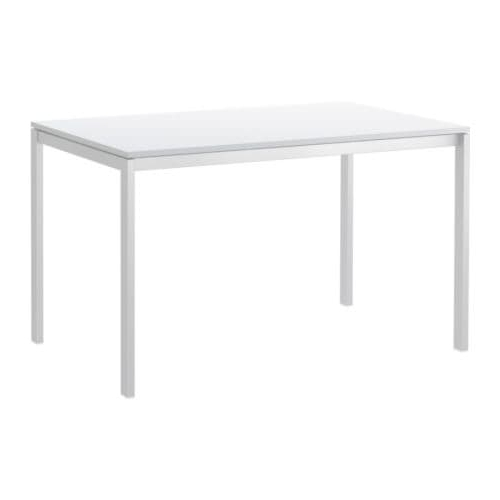 Recent White Melamine Dining Tables Regarding Melltorp Table White 125 X 75 Cm – Ikea (View 11 of 20)