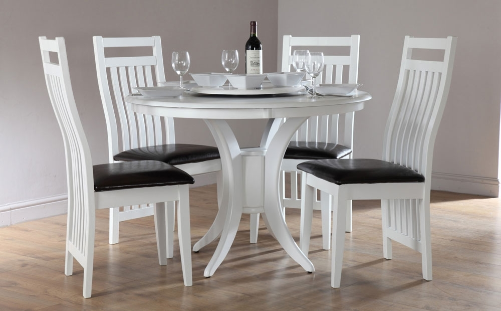 Recent White Round Dining Table Sets – Castrophotos Intended For Small Round White Dining Tables (View 14 of 20)
