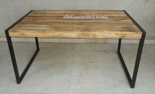 Reclaimed Mango Wood Dining Table With Metal Legs – Garud Regarding 2018 Mango Wood/iron Dining Tables (View 2 of 20)
