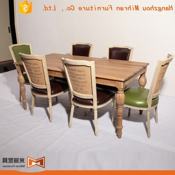 Reclaimed Teak Wood Restaurant Oval Solid Wood Dining Table Design Intended For Popular Oval Reclaimed Wood Dining Tables (View 18 of 20)