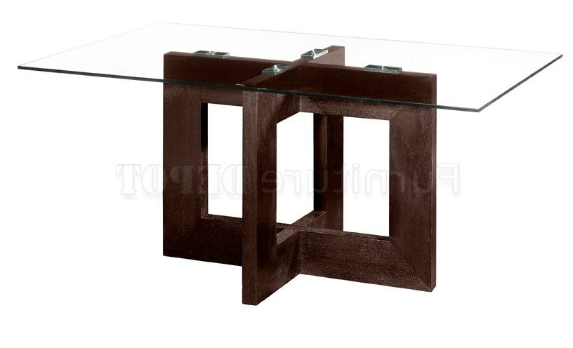 Rectangular Contemporary Glass Dinning Table (View 18 of 20)